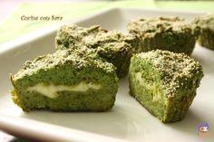 Sformato di broccoli con cuore filante