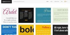 typespiration, combinaciones de tipos de letra para proyectos web