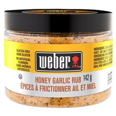 Shop Weber Honey Garlic Rub Seasoning Blend at Lowe's Canada. Find our selection of sauces & seasoning at the lowest price guaranteed with price match. Steak Spice, Weber Bbq, Perfect Steak, Bbq Rub, Spice Rub, Natural Flavors, Fresh Herbs, Grilling Recipes, Dry Rubs