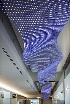 The Journey, by Jim Campbell, is made of 38,000 LED lights and extends more than 700 feet. Part of $6 million in new art at San Diego Airport.