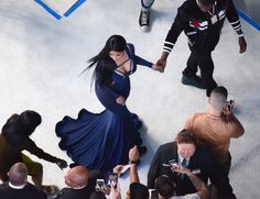 No this is not a Renaissance painting. Just Nicki Minaj slaying a white carpet