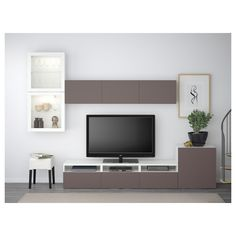 Most latest and graceful TV wall designs. Living room tv Storage Create this coo… Most latest and graceful TV wall designs. Living room tv Storage Create this cool concept in your favorite room. Living Room Tv, Home And Living, Tv Ikea, Muebles Living, Tv Wall Design, Tv Storage, Home Furnishings, Home Furniture, Ikea Living Room Furniture
