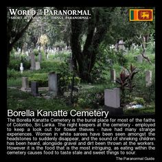 Borella Kanatte Cemetery (General Cemetery Kanatte)   - Colombo, Sri Lanka   - 'World of the Paranormal' are short bite sized posts covering paranormal locations, events, personalities and objects from all across the globe.   Follow The Paranormal Guide at: www.theparanormalguide.com/blog
