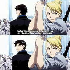 Riza Hawkeye and Roy Mustang | Fullmetal Alchemist Brotherhood