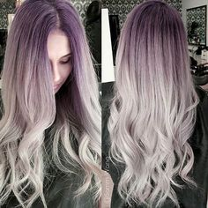 Violet to Silver Hair