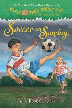J SERIES MAGIC TREE HOUSE. Jack and Annie search for the fourth secret of greatness for Merlin the Magician in Mexico City at the 1970 World Cup Games. They hope to learn something new from soccer player great, Pele.