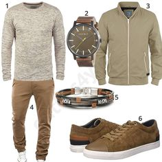 Beiges Herren-Outfit mit Chino und Sneakern Men's outfit with mottled blend knit sweater Look Fashion, Autumn Fashion, Mens Fashion, Fashion Outfits, Fashion Design, Travel Fashion, Fashion Ideas, Cool Outfits, Casual Outfits