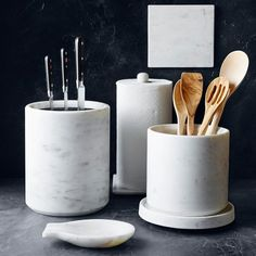 Make Williams Sonoma your source for gourmet foods and professional-quality cookware. Choose small kitchen appliances, cooking utensils and decor that match your cooking and entertaining style. Kitchen Utensil Holder, Cooking Utensils, Kitchen Utensils, Kitchen Gadgets, Williams Sonoma, Marble Block, Knife Storage, Cement Planters, Kitchens