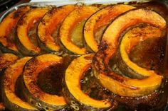 I'm having Baked Pumpkin Slices for lunch at work, it's fantastic. I'm definitely going to try this one at home!
