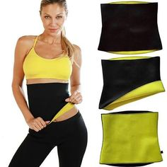 24e539577fa8c Thermo Neoprene Gym Waist Trainer Belt Ultra Sweat Body Shaper Slimming Belt  Belly Wrap - Trimmer Slimmer Compression Band for Weight Loss Workout  Fitness ...