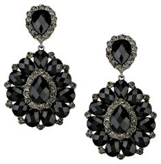 Glam Black Rhinestone Crystal Hematite Flower Leaf Design Chandelier Drop Dangle Clipon Earrings. Get the lowest price on Glam Black Rhinestone Crystal Hematite Flower Leaf Design Chandelier Drop Dangle Clipon Earrings and other fabulous designer clothing and accessories! Shop Tradesy now
