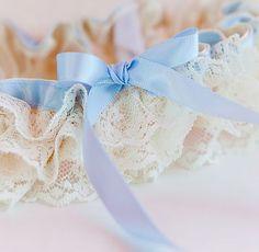 Something Blue. Wedding Garter.