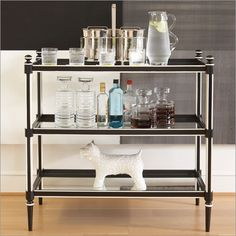 Photo of Global Views Regency Black & White3 Shelf Bar (Bakers Racks, Side Boards And Servers)
