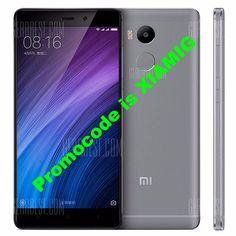 Promocode for Xiaomi Redmi 4 4G Smartphone  -  HK WAREHOUSE  GRAY Snapdragon 625 Octa Core 2.0GHz 3GB RAM 32GB ROM MIUI 8 5.0 inch FHD Screen Fingerprint Scanner 5MP + 13MP Cameras 4100mAh Battery WiFi Direct