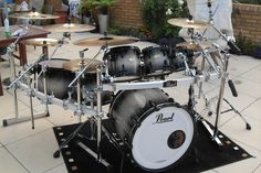 black pearl double bass drum set - Google Search