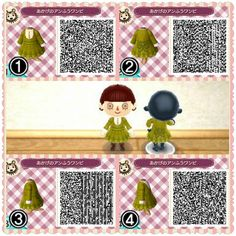 Isabelle Dress Animal Crossing New Leaf Qr Code Acnl