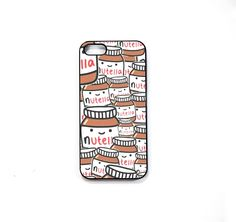 nutella pattern phone case