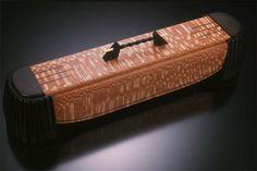 curtain - ebony, leopard wood, brass   Philip Weber   http://weberboxes.com