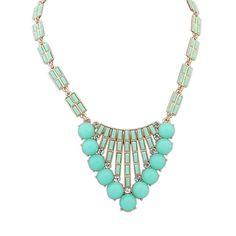 * Penny Deals * - Winter.Z Geometry Gemstone Explosion models exaggeration fashion retro false collar necklace -- More info could be found at the image url.