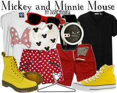 Minnie mouse and mickey mouse fashion