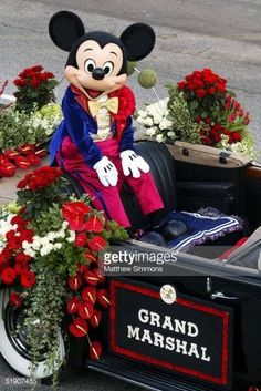 Grand Marshal Mickey Mouse in the Rose Parade