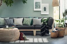 25 Of The Best Places To Buy Inexpensive Home Decor Online Decor Room, Living Room Decor, Living Room Green, Green Rooms, Green Walls, Wall Decor, Large Storage Baskets, Sweet Home, Inexpensive Home Decor