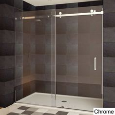 LessCare Teempered Glass Semi-frameless Shower Door - Overstock™ Shopping - Big Discounts on LessCare Shower Doors