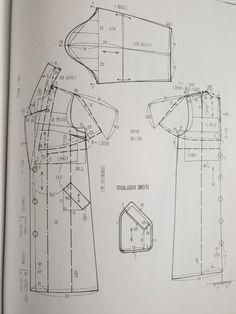 원단/짜투리/바느질/미싱/아이디어/퀼트/소잉/ | BAND Coat Patterns, Clothing Patterns, Sewing Patterns, Japanese Sewing, Jacket Pattern, Fashion Sewing, Sewing Clothes, Planer, Free Pattern