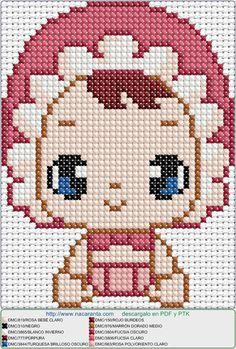 Cute EN PUNTO DE CRUZ, Cross stitch pattern