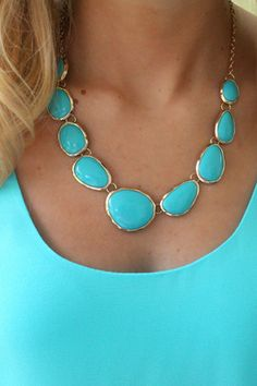 aqua statement jewelry