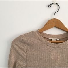 NWT Tan Relaxed Long Sleeve . H&M Tops Tees - Long Sleeve