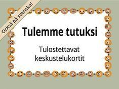Tulostettavat Tulemme tutuksi -kortit ryhmätoimintaan | RyhmäRenki Finnish Language, Kids Study, Les Sentiments, Early Childhood Education, Activity Games, Social Skills, Special Education, Kids And Parenting, Back To School