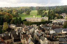 Lord Bathurst's 40ft hedge can be seen from all over the nearby town of Cirencester
