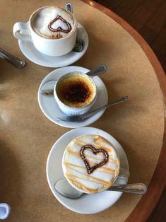 Lattes with hearts and creme brûlée Cafe Demetrio, Coral Gables, FL. Coffee shop ~ Timeless Elegance by Desiree photography
