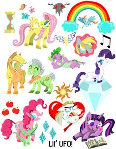 My Little Pony stickers for you and your friends to stick on each other and experience the magic of friendship with!!!  #mlpfim #mlp #mylittlepony #pinkiepie #twillightsparkle #rarity