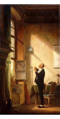 Carl Spitzweg: A Writer Sharpening his Quill