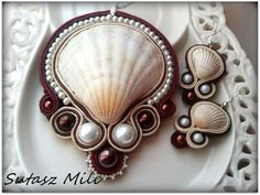 Another great idea for use of shells in soutache!