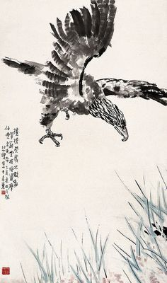 Eagle by  Xu Beihong (1895-1953), China Online Museum - Chinese Art Galleries, via Flickr