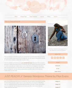 Beautiful clean watercolour responsive one, two or three column blog design