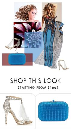"""Queen @sharonnnnnn"" by ester77zoe ❤ liked on Polyvore featuring Versace, Jimmy Choo, Judith Leiber and friends"