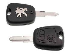 Peugeot Reparatur Schlüssel Gehäuse 2 Tasten Neu Rohling Peugeot 106 206 306