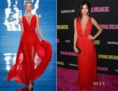 Selena Gomez In Reem Acra - Spring Breakers LA Premiere - Red Carpet Fashion Awards