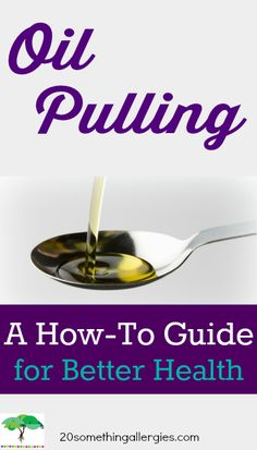 Moving the oil around helps to loosen stuck on plaque, remove unwanted bacteria and stains, and acts as a form of detoxification. (Pulling with coconut oil whitened my teeth by 2-3 shades in less that a week!) #oilpulling #health #teeth