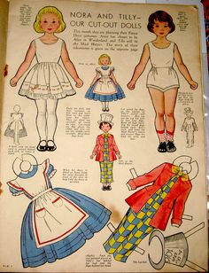 Nora & Tilly_Paper Doll 1_ALICE, 1950s