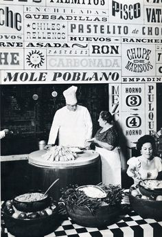 La Fonda del Sol restaurant, 1961. Typography by Alexander Girard.