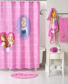 Disney Bath Accessories, Princess Timeless Shower Curtain