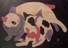 """Cats - Caress"" | by Kiyoshi Saito"