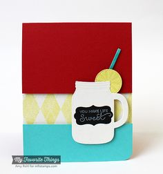 MFT Mason Jar Jug Die-namics; Mason Jar Labels Stamp Set; Diamonds and Dots Border. -Amy Rohl #mftstamps #masonjar