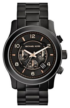 Michael Kors 'Large Runway' Chronograph Bracelet Watch, 45mm available at #Nordstrom