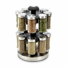 Kamenstein® Lexington 16-Jar Spice Rack - BedBathandBeyond.com